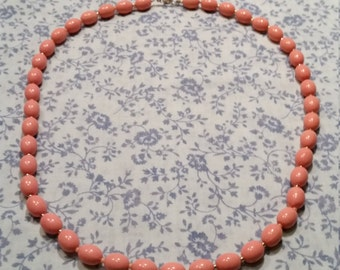 2 FOR 1 - 1980s Beaded Necklace - Pink - 2 FOR 1