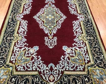 3' x 5' Antique Persian Kerman Oriental Rug - 1930s - Hand Made - 100% Wool