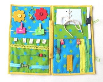 Dementia/ Alzheimer's fidget blanket, Personalised Alzheimer's Fidget Quilt, Gift for Grannny