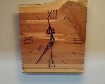 Cedar Wood Clock