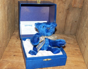 Merrythought Limited Edition The Blue Sapphire Anniversary Bear - 1017