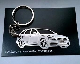 Audi keychain, Audi, Audi S4 B8, Personalized Key Chain, Custom Keychain, Stainless Steel Keychain, Audi key chain, fathers day gift