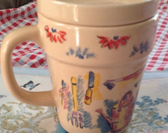 Cup for gardener, horticulture, tea or coffee, Garden, garden