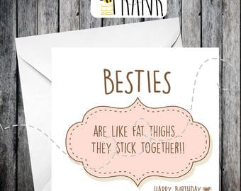 Funny, rude, alternative, sarcastic, BIRTHDAY card. Sister/friend/cousin/aunt/anyone!