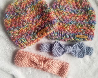 Mommy & Me Knit Bow Headband 0-6 Months