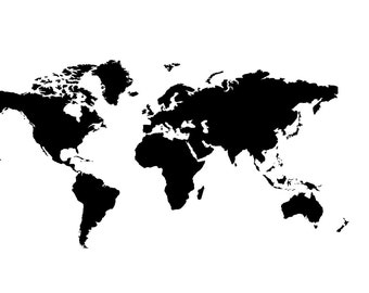 Large World Map Vinyl decal/sticker