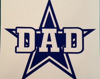 Dallas Cowboy Star Dad Decal