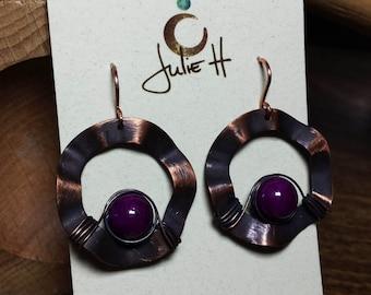 Ancient wavy earrings