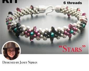 "Kumihimo Kit 6 threads  ""Stars"" bracelet Kumihimo Style"