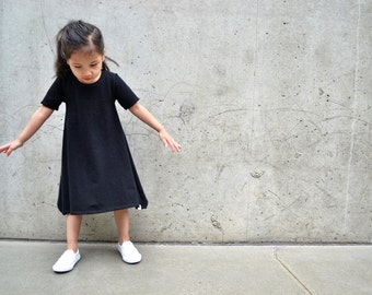 Black Baby Dresses, Toddler Dress, Baby modern dress, Black dress, Black toddler dress, Baby girl clothing, baby dresses, Baby girl dresses