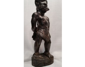 Wood Carving, West African Sculpture, Vintage Tribal, Ebony, Rare African Art, Unique