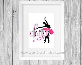 Ballerina Cross Stitch Pattern Modern, Dance Cross Stitch, Dancer Cross Stitch, Ballet Cross Stitch , Dance Quote Cross Stitch, Modern Cross