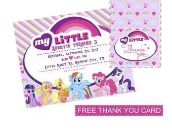 My Little Pony Invitation | My Little Pony Invite | Pony Invitation | My Little Party Supplies | My Little Pony Birthday Invitation