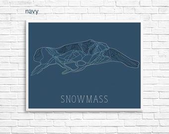 Snowmass Ski Map Print — Aspen Snowmass  Colorado Skiing