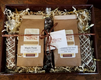 Gourmet Coffee Sampler in Gold and Chocolate Brown, Coffee Gift Set, Hostess Gift, Birthday Gift, Thank You Gift, Coffee Gift