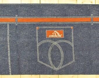Vintage 1970's JORDACHE Jeans King Size Pillow Case / Brooke Shields / Retro Collectable Rare