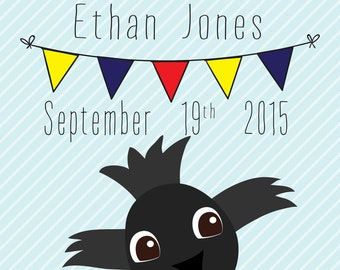 Adelaide Crows Birth Announcement Print