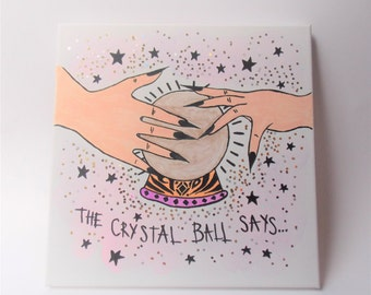 Crystal Ball Painted Canvas