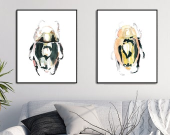 Beetle Art Print Watercolor Beetle Print Insect Art Beetle Illustration Insect Print Beetle Wall Art Beetle Painting Bug Art