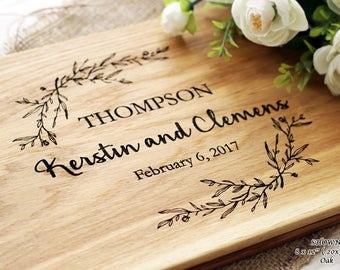 Personalized Cutting Board Gift Idea For Couple Wedding Gift Cutting Board Custom Wedding Gift Anniversary gifts for couples Bridal Shower