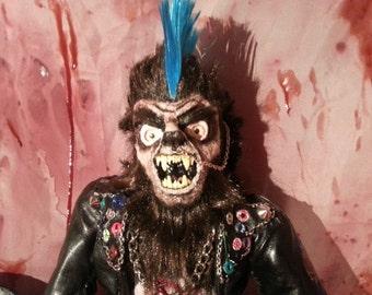 Horror Doll Werewolf Punk Werepunk Commission Based