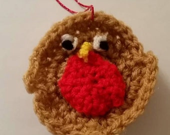 Christmas Robin Hanging Ornament