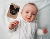 Mickey Mouse MILESTONE CARDS - Boys Baby Milestone Cards - Monochrome Kraft Gender Neutral Boys or Girls *Printed*