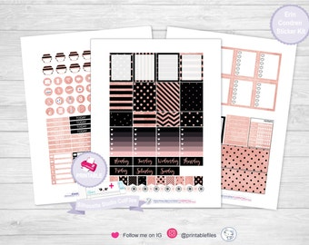 Rose Gold planner sticker kit planner kit erin condren planner stickers printable stickers planner sticker weekly kit stickers planner kit