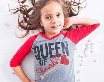 Queen Of Hearts, Girls Valentineu0027s Shirt, Valentineu0027s Day Outfit,  Valentineu0027s Day Tshirt,