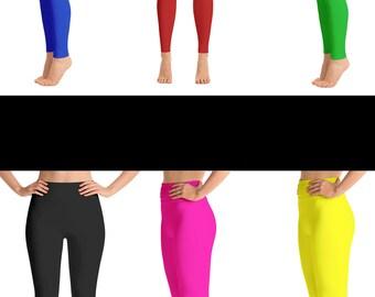 Blue Leggings - Green Leggings - Red Leggings - Yellow Leggings - Pink Leggings - Black Leggings - Girls Leggings - Brown Leggings - Kids