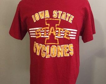 Vintage Iowa State University T-Shirt, Size: Large