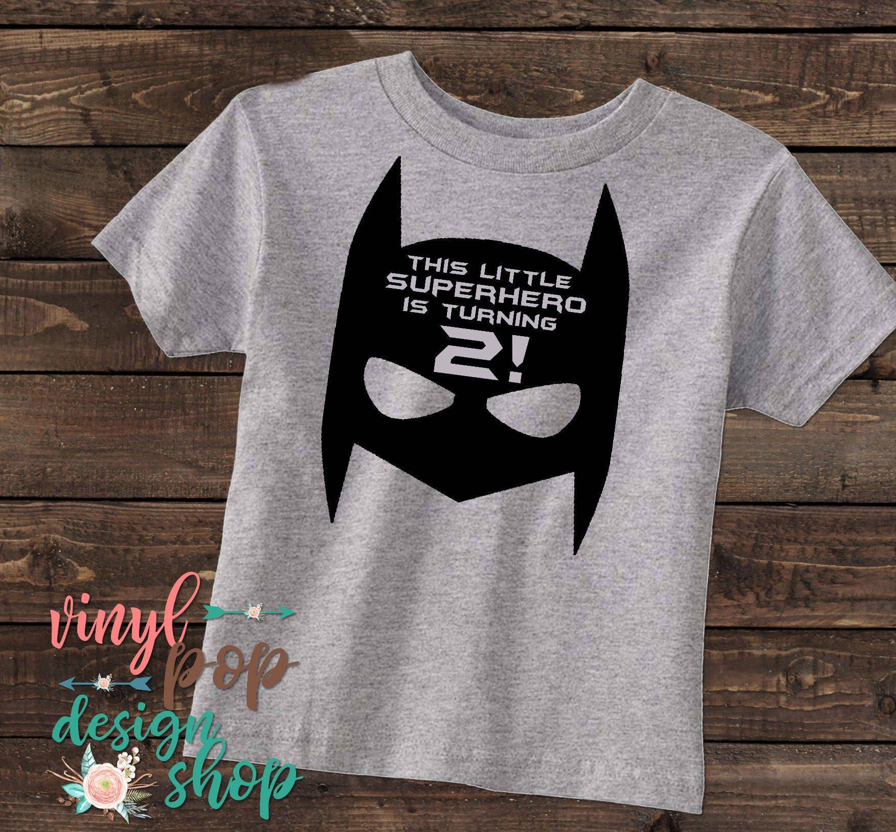 Super Hero Birthday Shirt Toddler Tee Present Boy