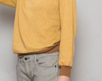 70's Gold Harvest Stripe Sweater