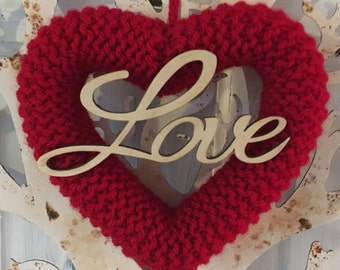Knitted Heart with Love