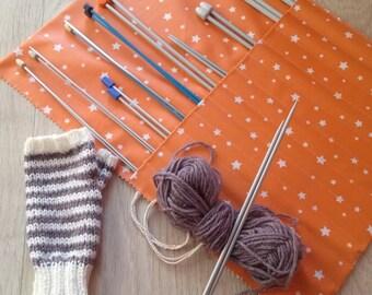 Needle case knitting - knitting accessory - gift idea party big day