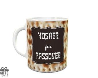 Passover Mug - Jewish Mug - Passover Gift - Kosher, Matzoh, Matza - Pesach Gift - Passover Present - Jewish Passover - Kasher - Pesachdik