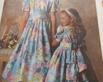 McCalls 5248 Girl's Party Dress Sewing Pattern