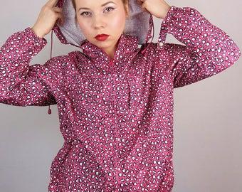 Vintage festival raincoat / shell jacket