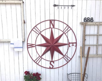 Metal Wall Art Compass,Nautical Decor,Home & Garden,Living Room,Kitchen,Home Decor, Accents, Wall Hangings,Home Improvement,Furnishings