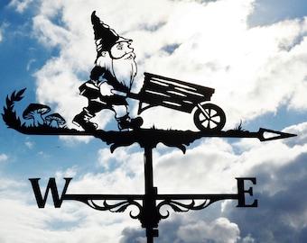 Dwarf Metal Weathervane Roof Mount Weather Vane Gnome Elf