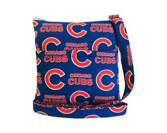 Chicago Cubs Crossbody Bag // Sling Bag // Crossbody Purse // Shoulder Bag // Hipster // MLB