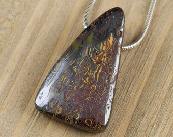 3.2cm BOULDER OPAL Pendant - Boulder Opal Bead, Boulder Opal Necklace, Boulder Opal Jewelry Making, Boulder Opal Cabochon Natural Opal J0521