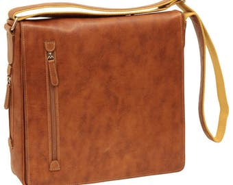Leather Messenger/Laptop Bag/Leather Bag/Italian Leather/Made In Italy -  SKU: 0731CO