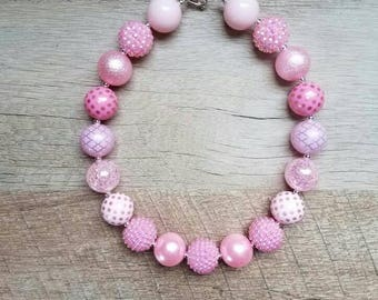 Pink Chunky Necklace, Bubblegum Bead Necklace, Chunky Beads, Baby Bubblegum Necklace, Bubblegum Necklace, Pink Chunky Necklace, Photo Prop