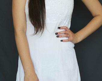 90s White Mini Dress