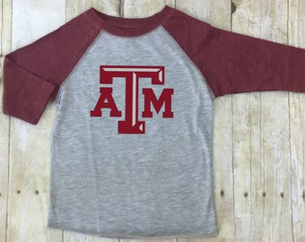 Texas A and M Shirt-Toddler TAMU Shirt Shirt-Texas A & M Shirt Kids Aggies Shirt Kids-Maroon Aggie Shirt Toddler-Texas A and M Shirt-Maroon
