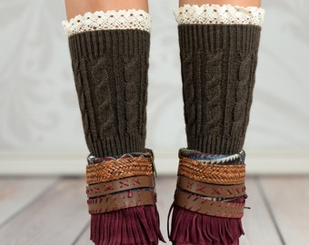 Brown Wheat Boot Cuffs