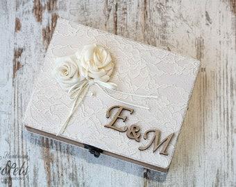 Wish Box, Wedding Wishes Box, Personalized Box, Wishes Box Handmade, Vintage Wedding, Wedding Decoration, Wedding Mementos, Wooden Wish Box