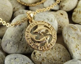 Pisces necklace pisces pendant pisces charm pisces jewelry pendant necklace horoscope jewelry pisces zodiac horoscope charm astrology charm.