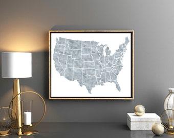 Map of united states Etsy